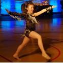 Strój do disco dance z cieniowanej koronki